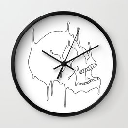Melting Skull Wall Clock