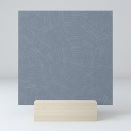 Light Slate Gray Marks Mini Art Print