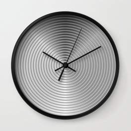 energetic black Wall Clock