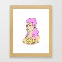 defmachine girl Framed Art Print