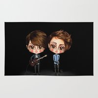 tegan and sara Area & Throw Rugs featuring Tegan and Sara by Joana Pereira