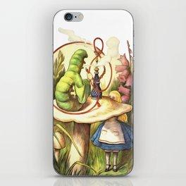 Alice & The Hookah Smoking Caterpillar - Alice In Wonderland iPhone Skin