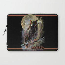 The Great Horned Owl & The Terrible Smell Laptop Sleeve