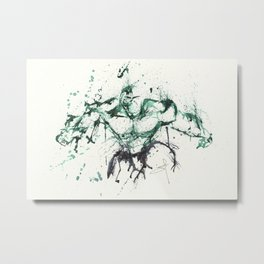 Hulk - Splatter Art Metal Print