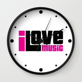 I Love Music Quote Wall Clock