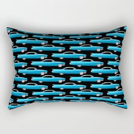 60's well finned Caddy in blue - pattern version Rectangular Pillow