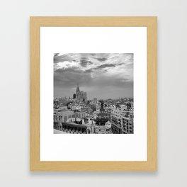 Skyline - MADRID  Framed Art Print