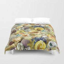 Seashells And Starfish Duvet Cover