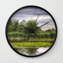 The Lily Pond Wall Clock