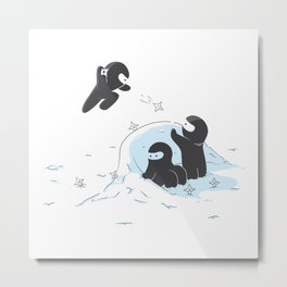 Ninjas do not camouflage well in winter Metal Print