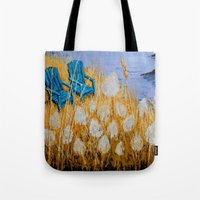 couple Tote Bags featuring COUPLE by Olga Krokhicheva
