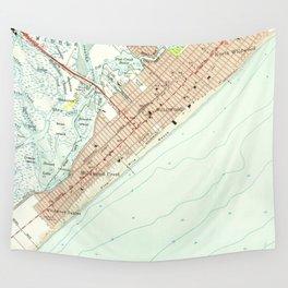Vintage Map of Wildwood NJ (1955) Wall Tapestry