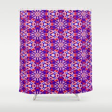 Red, White and Blue Graphic Art Stars 240 Shower Curtain