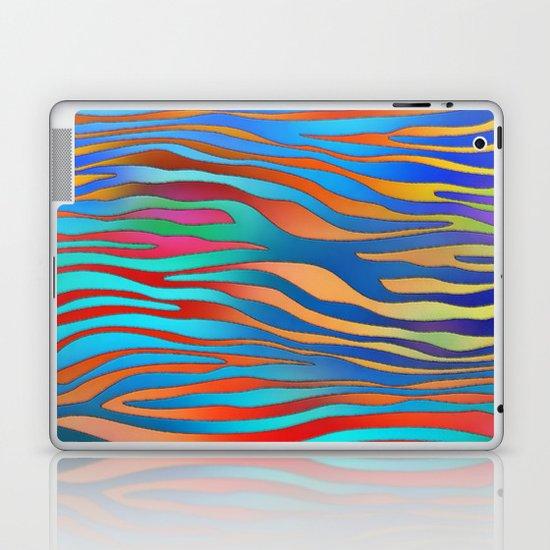 Colored Zebra Pattern Laptop & iPad Skin