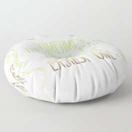 Grandmother Willow's Words Floor Pillow