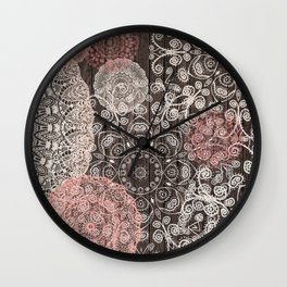 HAPPY GO LUCKY - BOHO WOOD Wall Clock