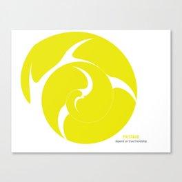 Mustard: depend on true friendship Canvas Print
