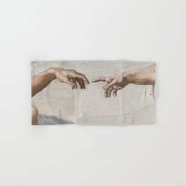 THE CREATION OF ADAM - MICHELANGELO Hand & Bath Towel