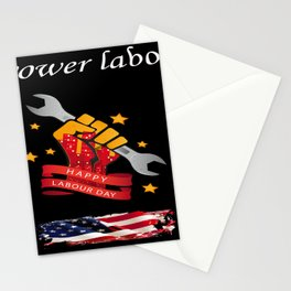 T-shirt labor day Stationery Cards