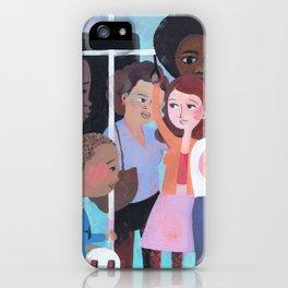 WHY AM I ME? SUBWAY SCENE iPhone Case