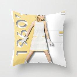 1960's Throw Pillow