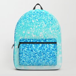 Turquoise Glitter Backpack