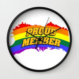 proud - Gay Pride T-Shirt Wall Clock