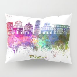 Pisa skyline in watercolor Pillow Sham