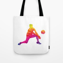 Rainbow volleyball Tote Bag