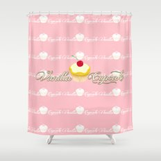 VANILLA CUPCAKE Shower Curtain
