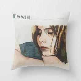 E is for Ennui Throw Pillow