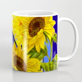 ARTISTIC BLUE CROW SUNFLOWERS CONCEPT Coffee Mug