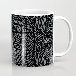Ab Lace Black and Grey Coffee Mug