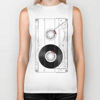 cassette Biker Tanks featuring Cassette by T.K.O.