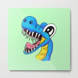 Dino Time! - The Happy Pet Dinosaur Metal Print