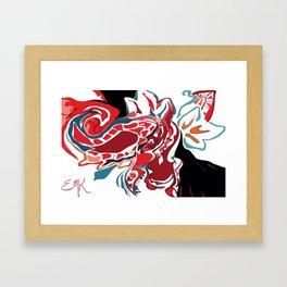 Paisley on Fire Framed Art Print