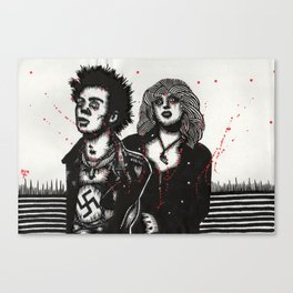 SID AND NANCY Canvas Print
