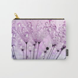 Dewdrop Blush / Water Droplets Dandelion Seeds Carry-All Pouch