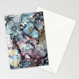 Teal & Gold Abstract Stationery Cards