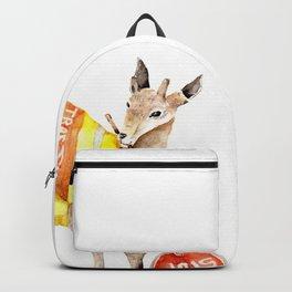 Traffic Controller Deer in High Visibility Vest Backpack