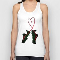 soccer Tank Tops featuring Soccer Love by Leah Flores