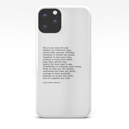 My Wish For You, Ralph Waldo Emerson, Quote iPhone Case