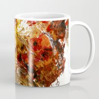 poppies Mugs featuring Poppies by James Peart