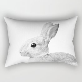 White Baby Bunny #1 #decor #art #society6 Rectangular Pillow