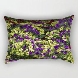 Waves of Petunias Rectangular Pillow