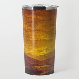 Caspar David Friedrich / Mountainous River Landscape Travel Mug