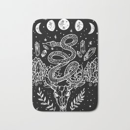 Gothic Snakes And Crystals Moon Phases Bath Mat