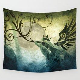 Frog Prince Midnight Fantasy Wall Tapestry