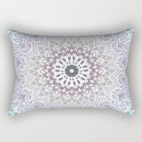 BLUE SUMMER MANDALA Rectangular Pillow