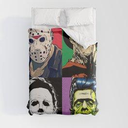 Horror Pop Art Duvet Cover